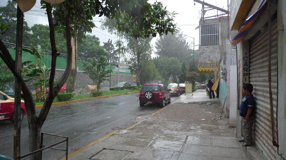 Ein Regenschauer in D.F.