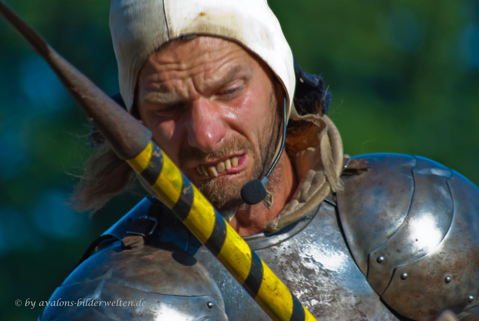 Ein Ritter der Kronen im Kampf