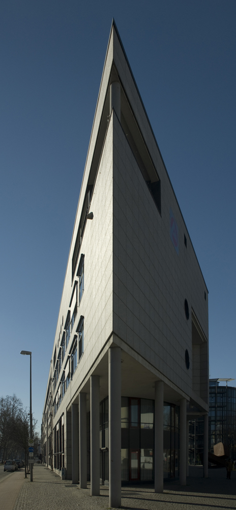 Ein scharfes Gebäude