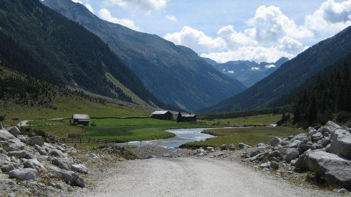 Ein schickes Tal auf dem Weg zur Jause