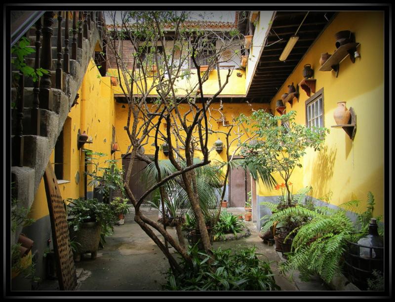 Ein schöner Innenhof in Garachico auf Teneriffa