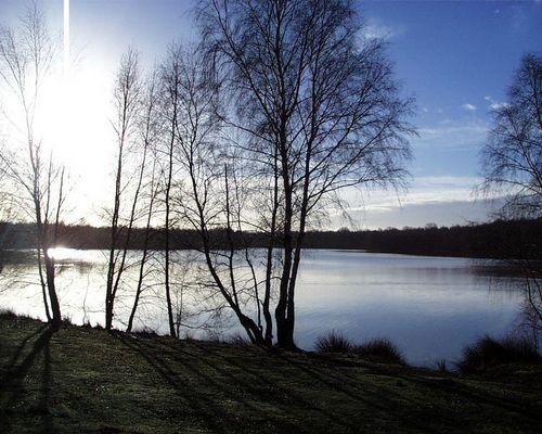 Ein schöner morgen, alleine am See