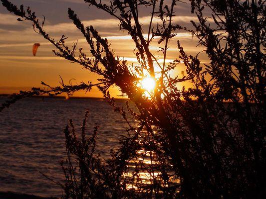 Ein schöner Sonnenuntergang in Dänemark