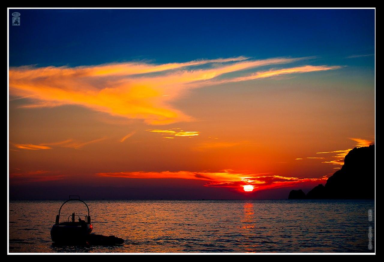 ein schöner Strandabend in Alanya