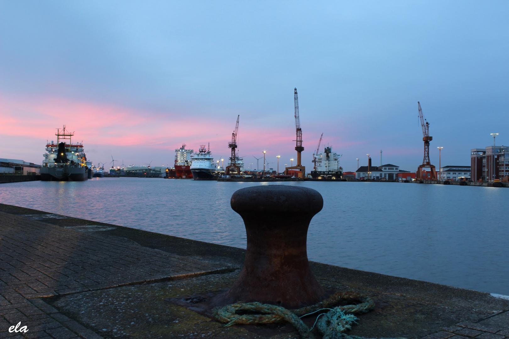 Ein schöner Tag in Bremerhafen