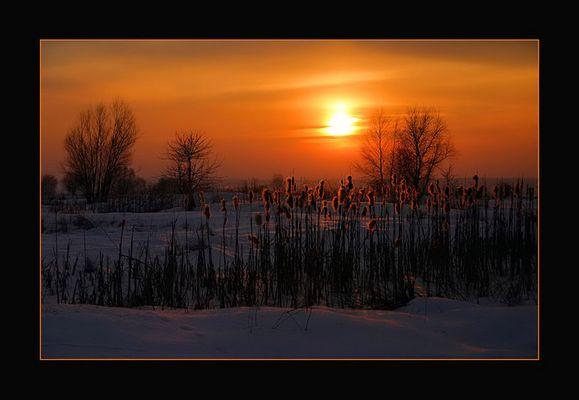 ein schöner Wintertag geht zu Ende