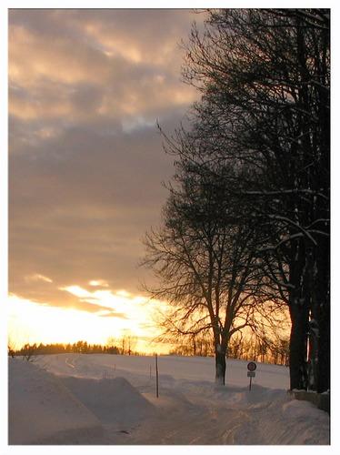 Ein schöner Wintertag neigt sich dem Ende...