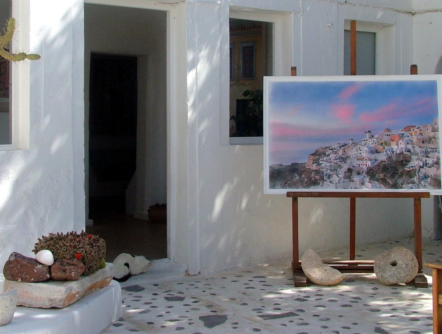 Ein schönes Gemälde von der Insel