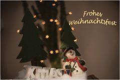 Ein schönes Weihnachtsfest wünsche ich allen
