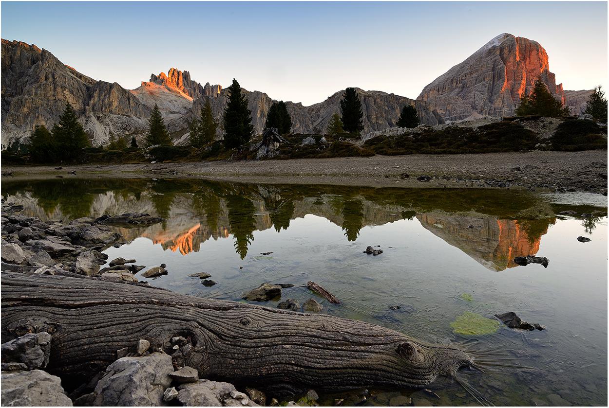 Ein See trocknet aus