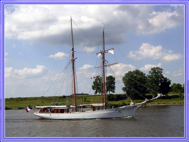 Ein Segelschiff auf dem NOK