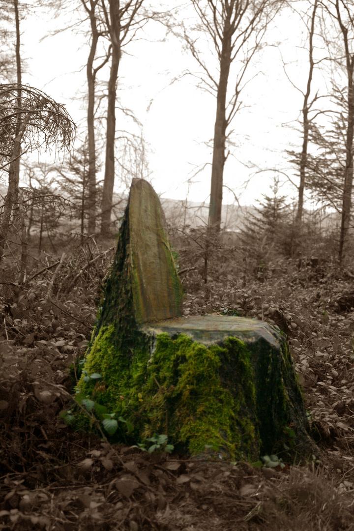 Ein sehr natürlicher Stuhl