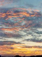Ein Sommer-Sonnenuntergang