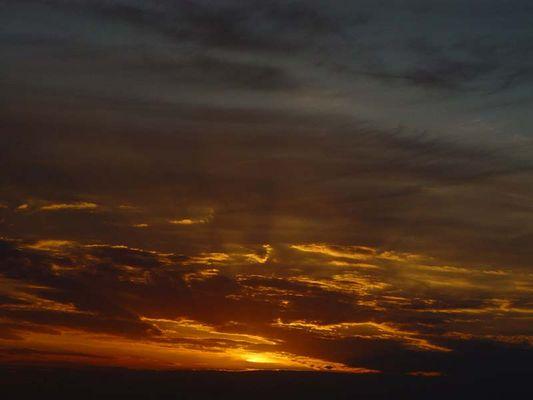 Ein Sonnenuntergang an der Bergstrasse