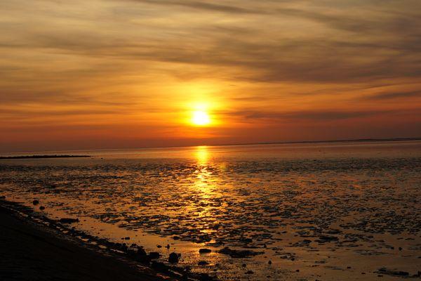 Ein Sonnenuntergang an der Nordsee