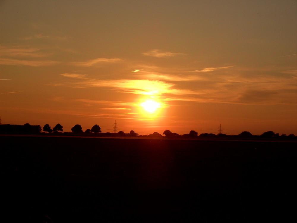 Ein Sonnenuntergang im Sommer 2009