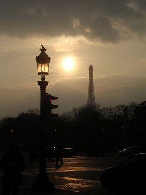 Ein Sonnenuntergang in Paris