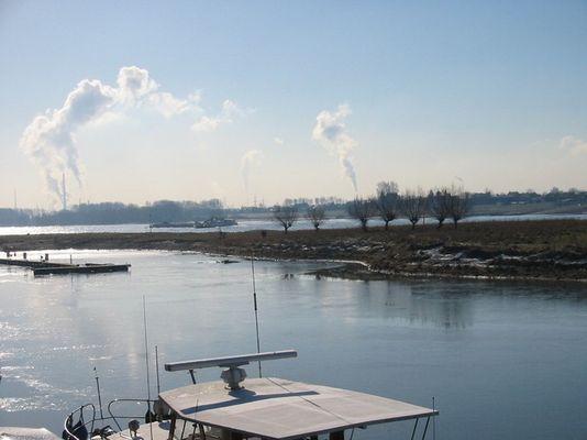 Ein sonniger Wintertag am Rhein