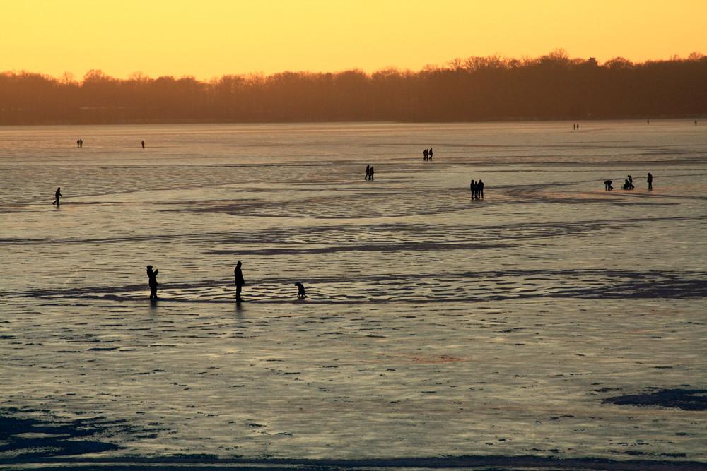 Ein Sonntag auf dem Eis
