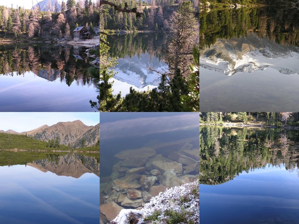 """Ein """"Spiegelsee"""" im Nationalpark Hohe Tauern.."""
