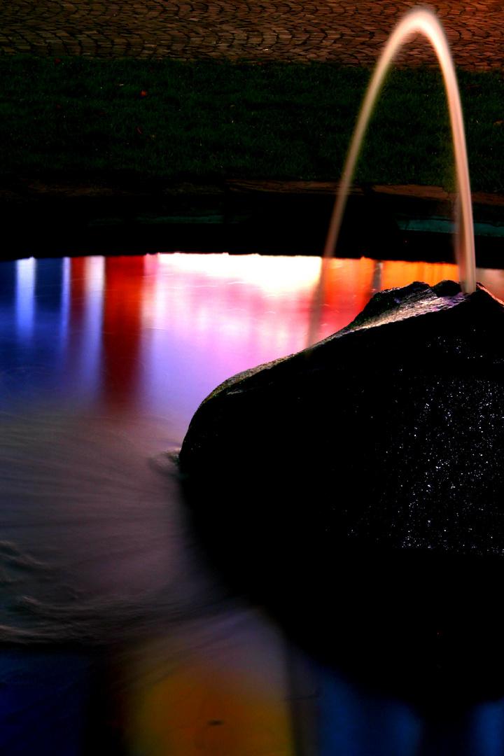 Ein Springbrunnen