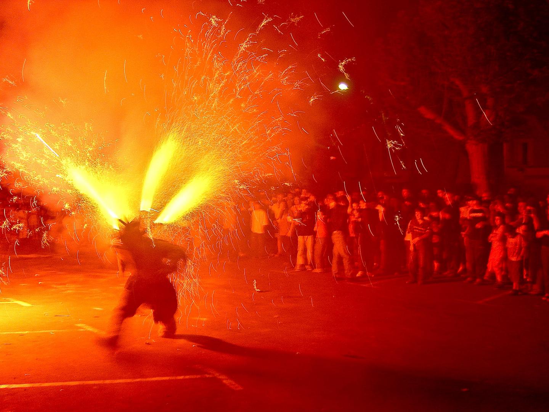 Ein Stadtfest in Quillan (Südfrankreich).