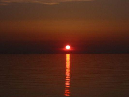 Ein Steichholz verglüht am Abendhimmel