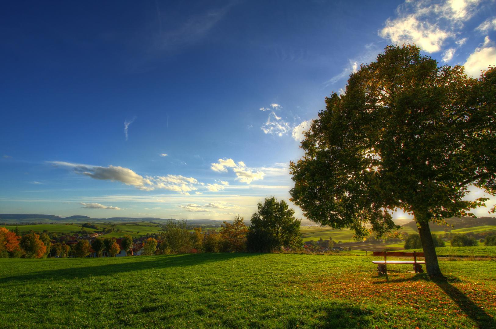 Ein stiller Ort um den Herbst zu genießen