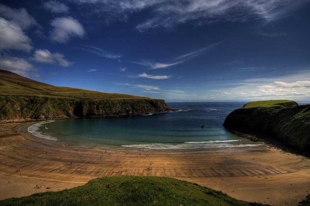 Ein Strand in Irland