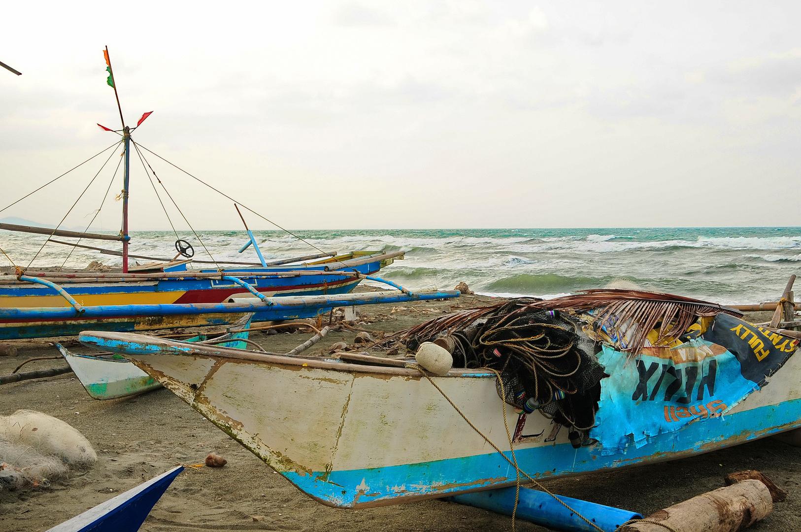 """"""" Ein stürmischer Tag am Meer """" , Ondoy - Aklan - Panay 2011"""
