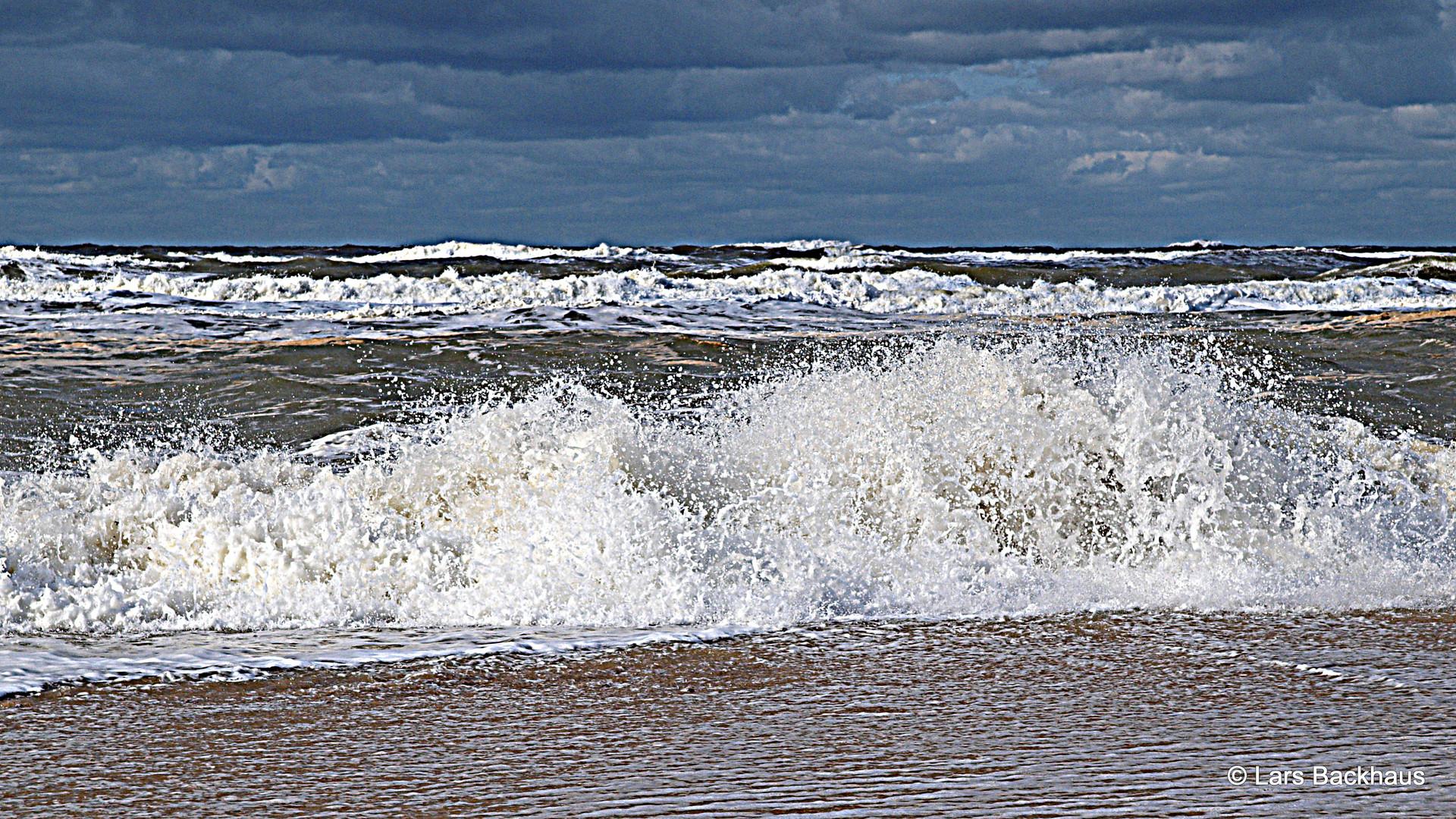 Ein stürmischer Tag an der Nordsee