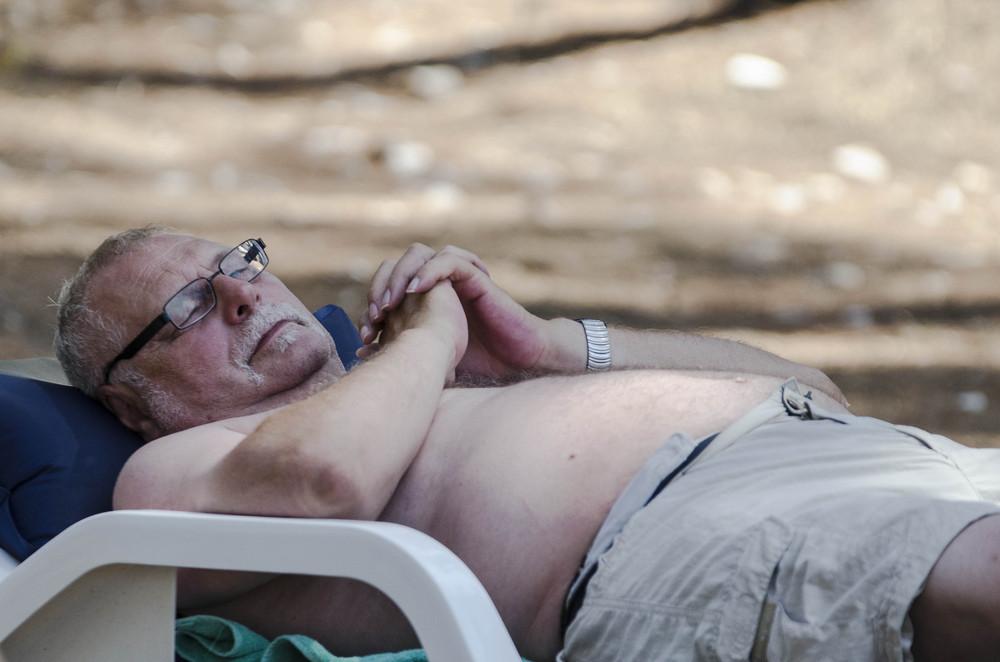 Ein Tag am Strand: Sonnenanbeter