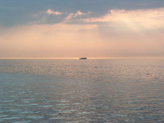 Ein Tag auf dem Meer neigt sich dem Ende entgegen