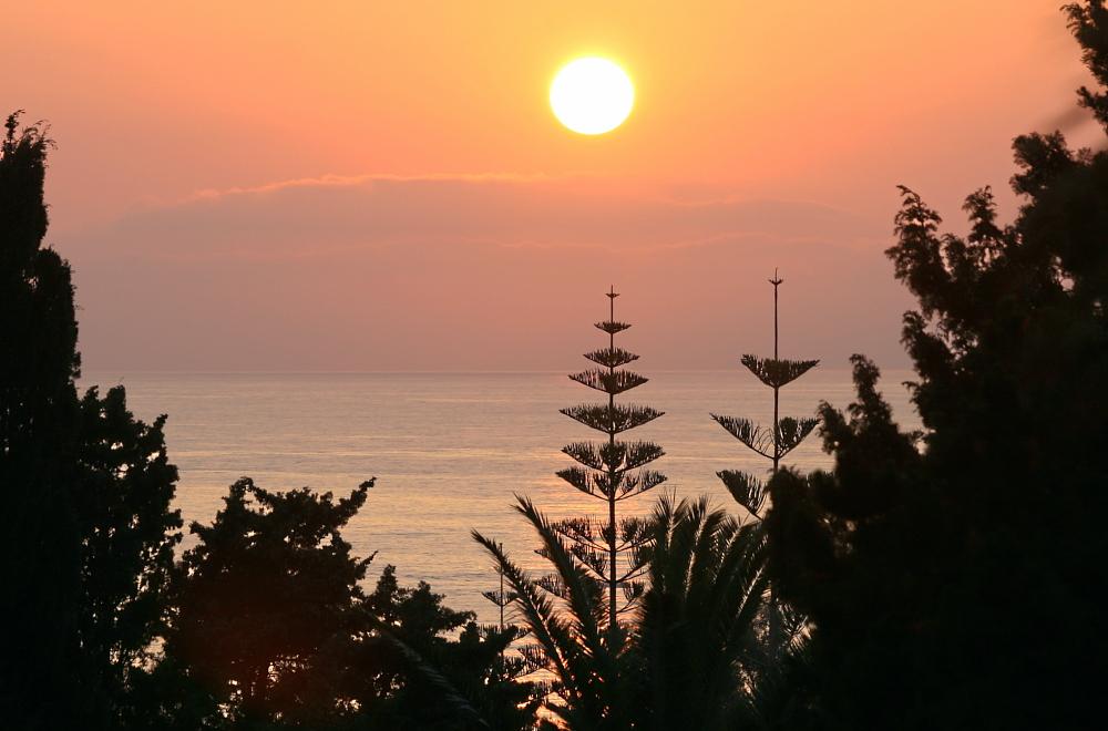 ein Tag geht zuende in Tropea