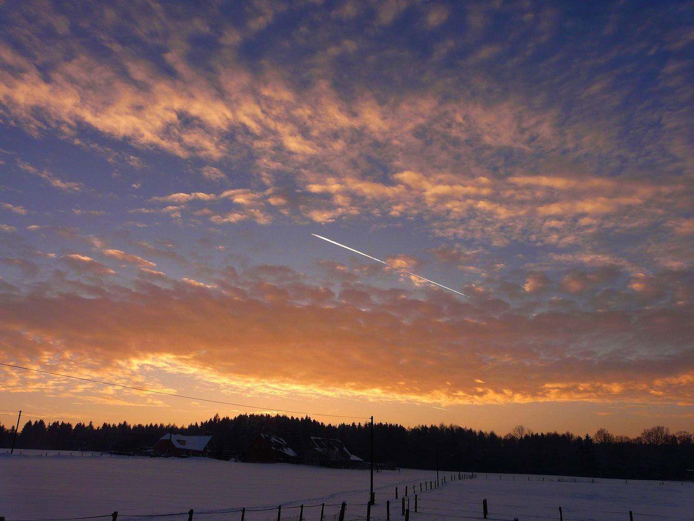 Ein toller Sonnenuntergang heute