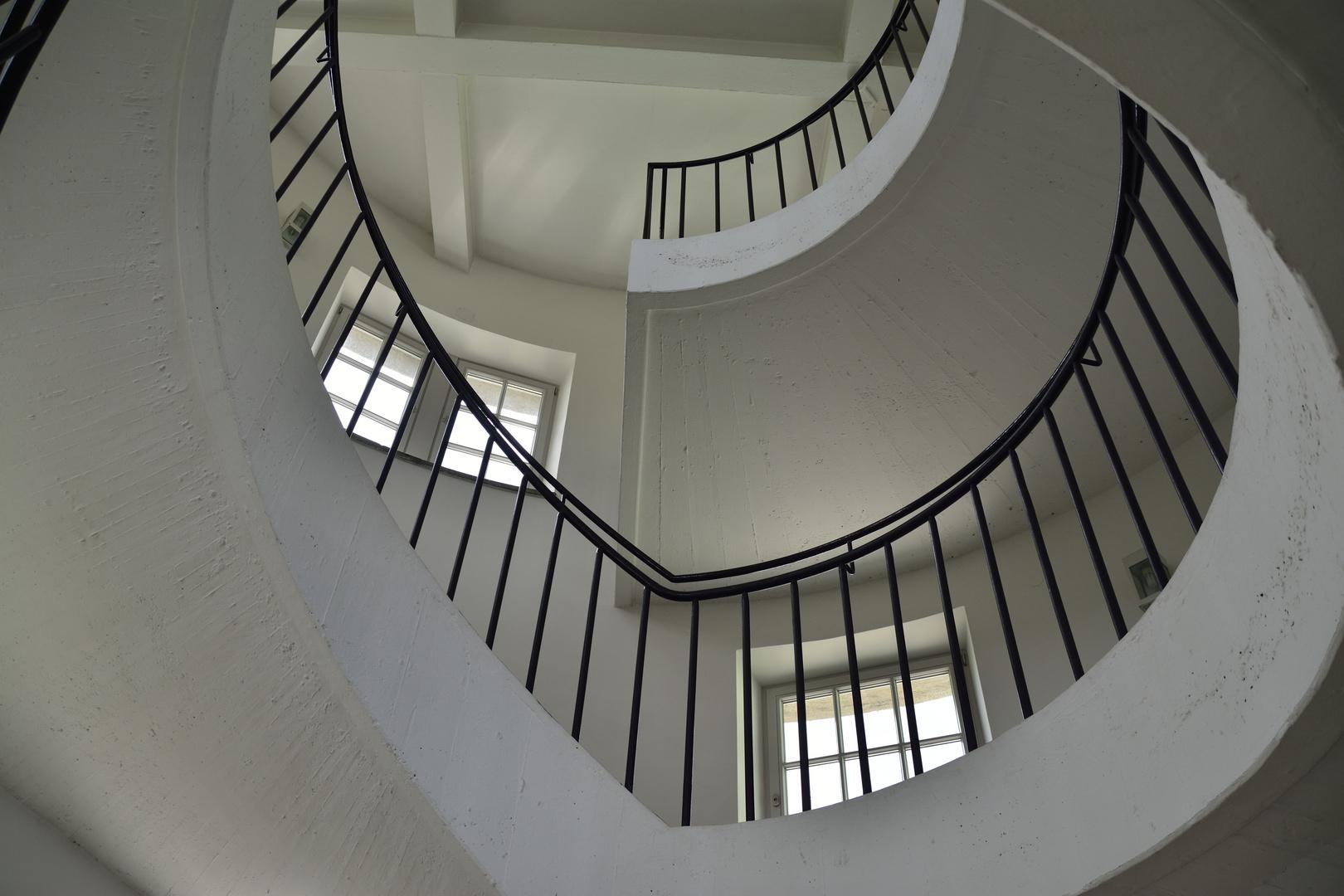 Ein Treppenhaus im Deutschen Museum