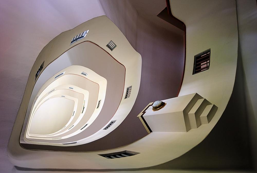 ein Treppenhaus in Wien