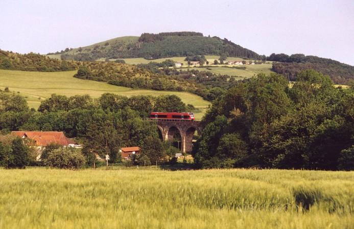 Ein Triebwagen Baureihe 646 war mein fotografischer Abschluss des Kurhessenbahn-Streckenfestes 2005