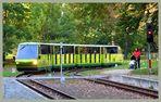 Ein Triebzug der Parkeisenbahn Cottbus..