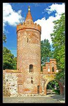 Ein Turm der Stadtmauer in Neubrandenburg