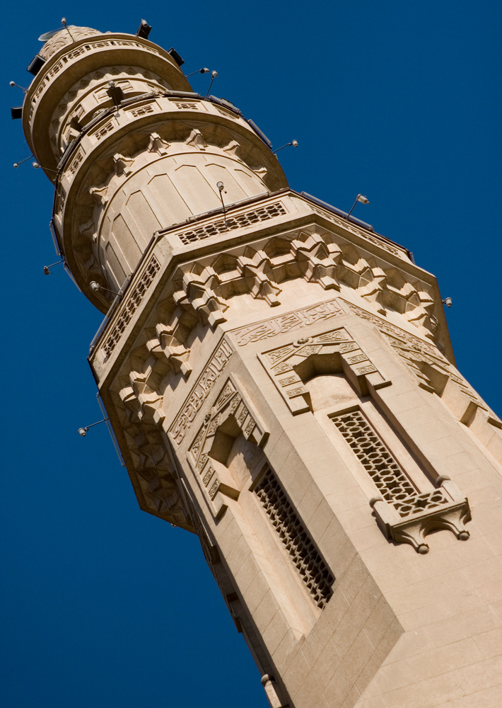 Ein Turm einer Moschee