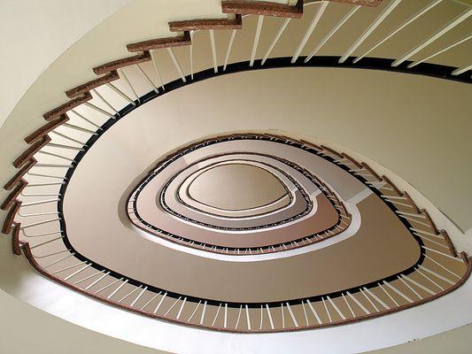 Ein typisches Treppenhaus aus den 60er Jahren (1967)