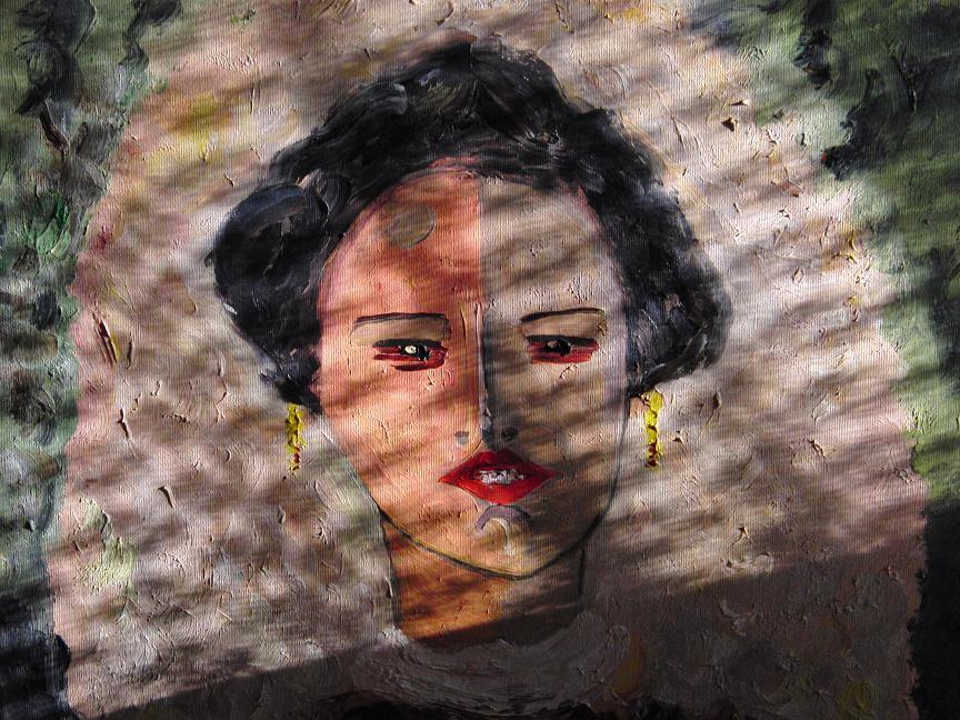 Ein unfertiges Gemälde von Frank.