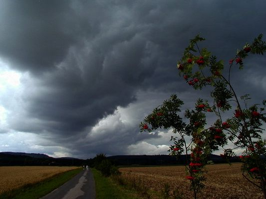 ein Unwetter kommt