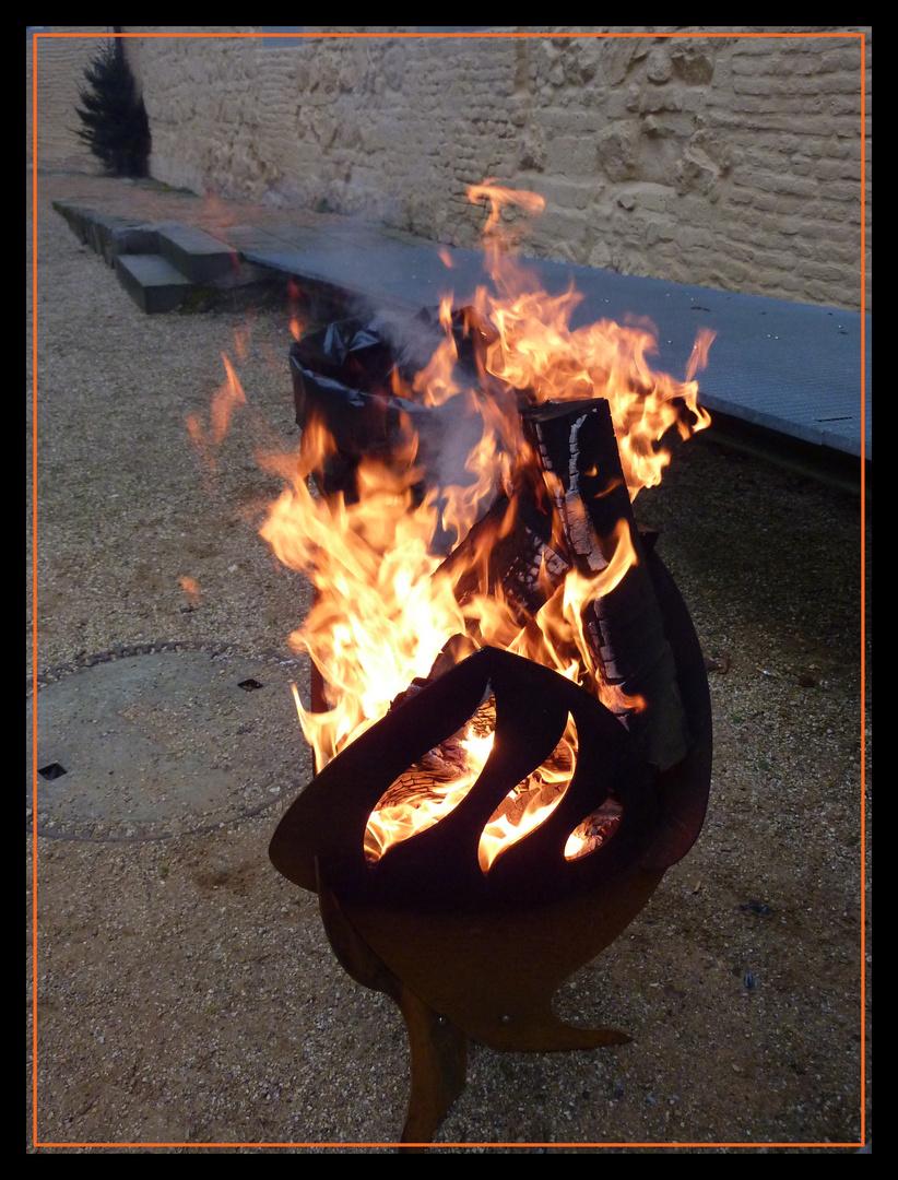 Ein wärmendes Feuer für euch.........