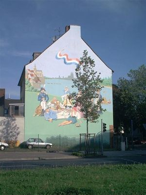 Ein Wandbild in Köln-Mülheim