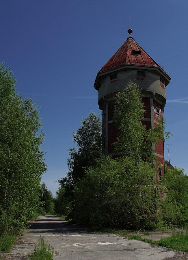Ein Wasserturm für Bahnschwellen