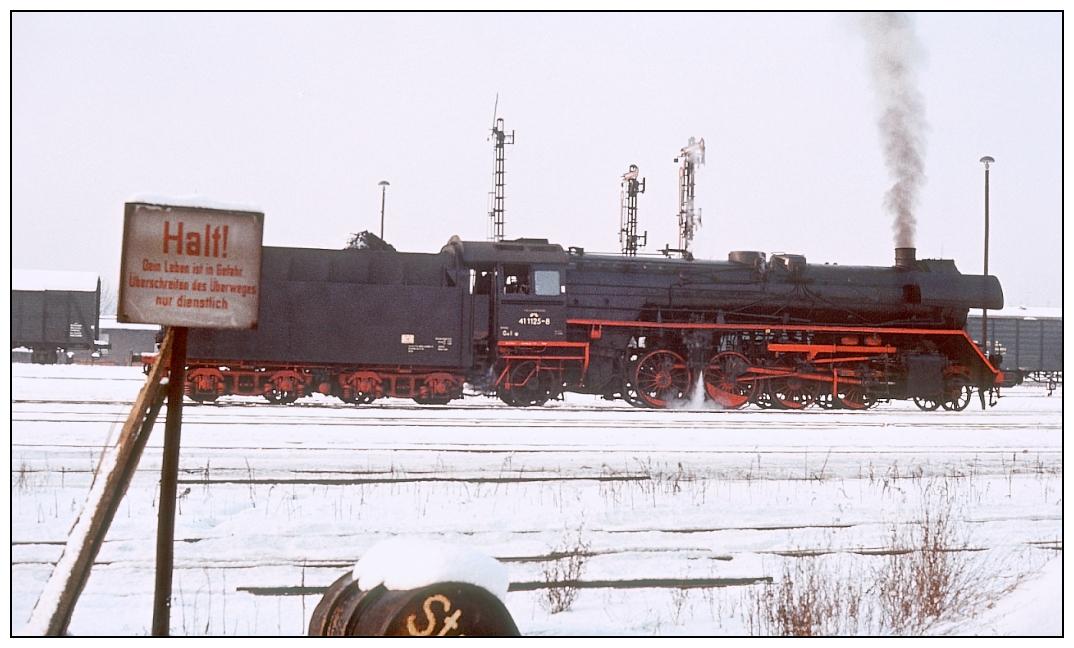 Ein Winterfoto zum Freitag aus dem Jahr 1981