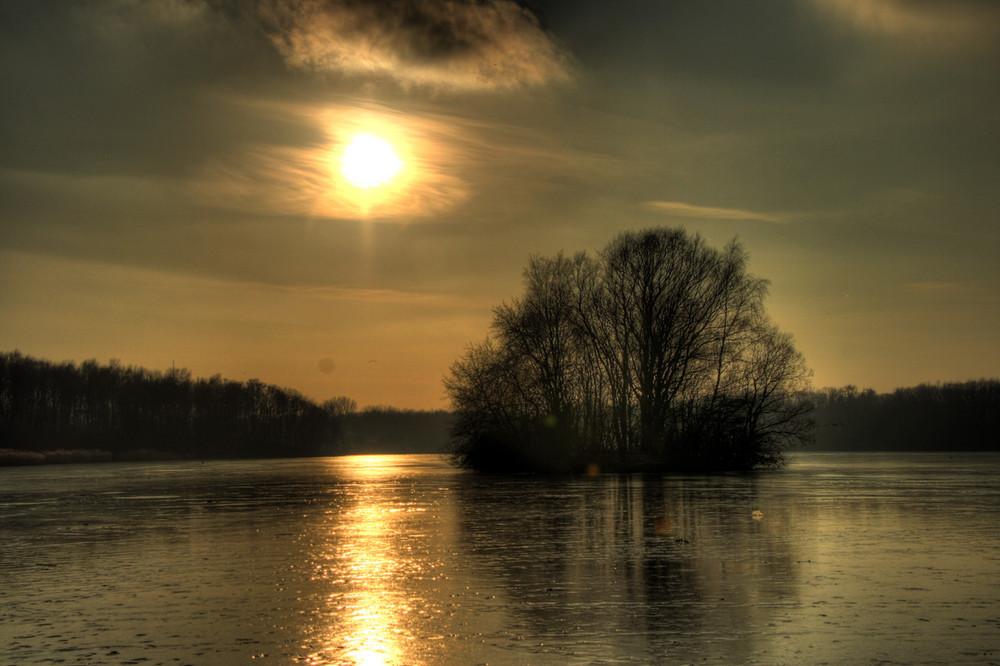 Ein winterlicher Nachmittag am Öjendorfer See