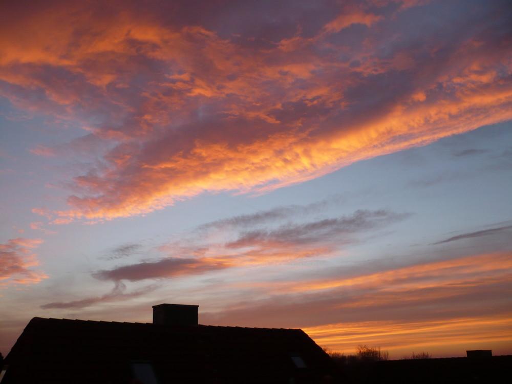 Ein Winterlicher Sonnenuntergang...